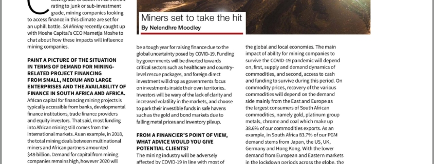 Moshe Capital Pandemic Pressures by SA Mining
